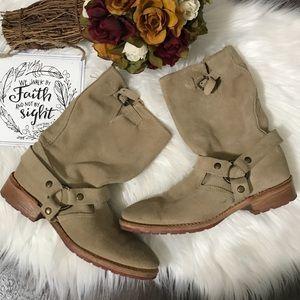 Vintage Suede Ankle Boots Sz 7